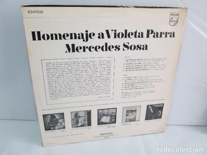 Discos de vinilo: MERCEDES SOSA. HOMENAJE A VIOLETA PARRA. LP VINILO. PHILIPS. VER FOTOGRAFIAS ADJUNTAS - Foto 11 - 113633871
