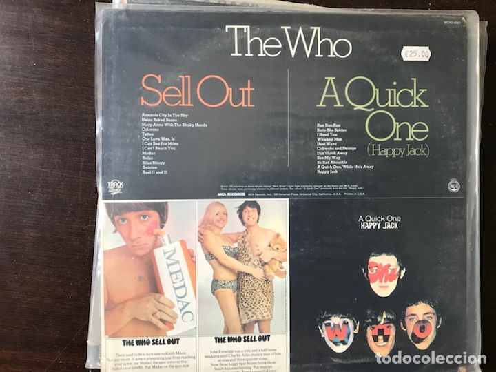 Discos de vinilo: A quick one / Sell out. The Who - Foto 2 - 113643950
