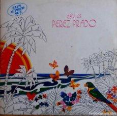 Discos de vinilo: PEREZ PRADO ESTE ES. DOBLE LP ESPAÑA. RCA.. Lote 113646199