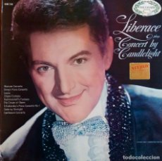 Discos de vinilo: LIBERACE. PLAYS CONCERT BY CANDLELIGHT. LP UK. Lote 113647495