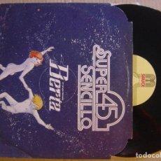 Discos de vinilo: UN GRUPO LLAMADO BERTA - ROCK AND ROLL PARTY SUPER 45 SAUCE. Lote 113653011