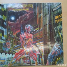 Discos de vinilo: IRON MAIDEN - SOMEWHERE IN TIME (LP) 1986. Lote 113669787