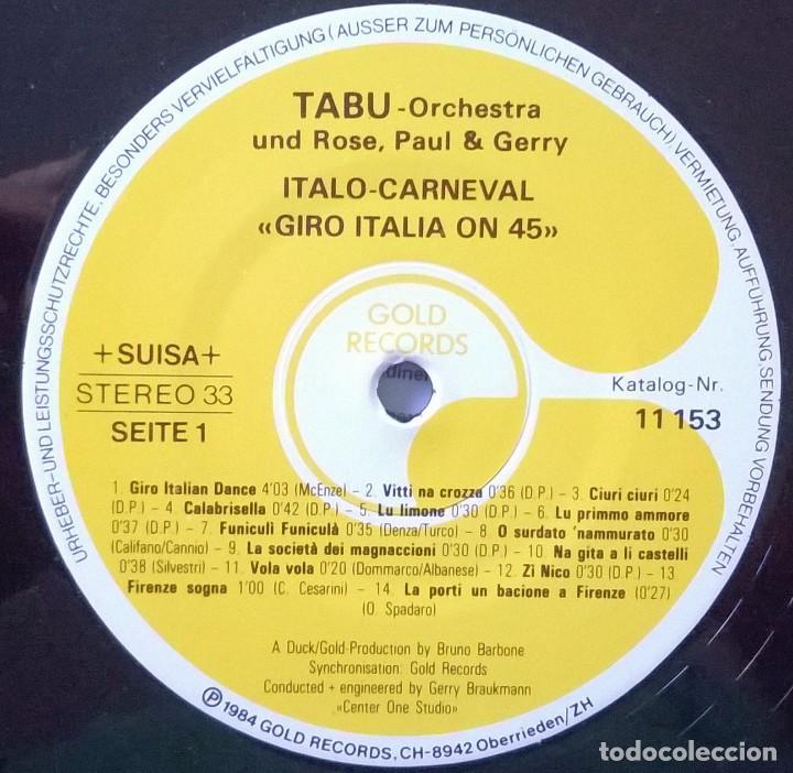 Discos de vinilo: Tabu-Orchestra und Rose, Paul & Gerry-Italo-Carneval Giro Italia On 45, Gold Records-11 153, Gold - Foto 4 - 113670959