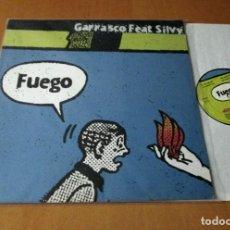 Discos de vinilo: GARRASCO FEAT SILVY - FUEGO - MAXI 4 VERSIONES A 33 RPM - INSOLENT 1998 SPAIN INSMX 15 M SUPER RARE. Lote 113682311