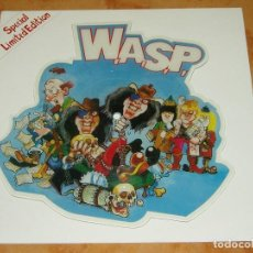 Discos de vinilo: WASP 7 VINYL PICTURE DISC THE REAL ME UK CAPITOL 1989-MOTLEY CRUE-IRON MAIDEN-KISS. Lote 113684479