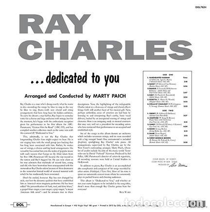 Discos de vinilo: RAY CHARLES * LP HQ Virgin Vinyl 180g * Dedicated to You * LTD Precintado!! - Foto 2 - 125476784