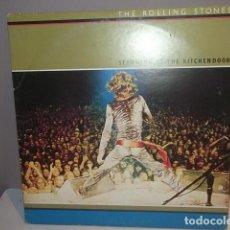 Discos de vinilo: ROLLING STONES,RARO DOBLE LP STANDING AT THE KITCHENDOOR CANADA 1972 MUY BUEN ESTADO.. Lote 113689347