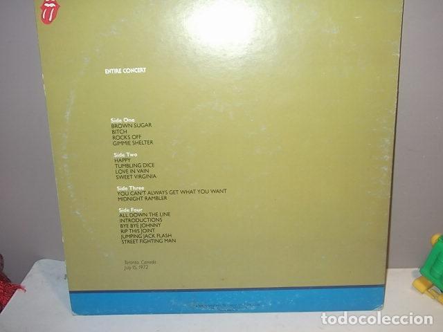 Discos de vinilo: ROLLING STONES,RARO DOBLE LP STANDING AT THE KITCHENDOOR CANADA 1972 MUY BUEN ESTADO. - Foto 8 - 113689347