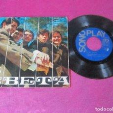 Discos de vinilo: LOS BETA EP SONOPLAY 1967 INCENDIO EN RIO PAMELA LA FAMILIA GINA EP . Lote 113695179