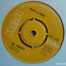 Discos de vinilo: ZAGER & EVANS - CARY LYNN JAVES + MR TURNKEY - SINGLE INGLES RCA 1969. Lote 113696091