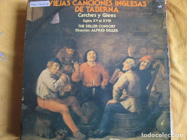 LP - THE DELLER CONSORT - VIEJAS CANCIONES INGLESAS DE TABERNA (SPAIN,  VANGUARD 1979)