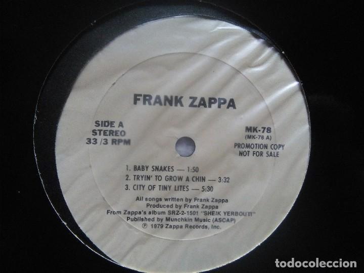 Discos de vinilo: FRANK ZAPPA – '' SHEIK YERBOUTI 'CLEAN CUTS' '' LP PROMO WHITE USA 1979 - Foto 3 - 113708559