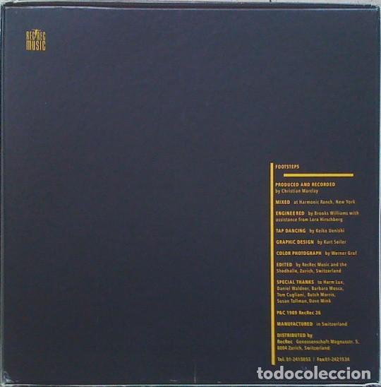 Discos de vinilo: CHRISTIAN MARCLAY - FOOSTEPS - REC REC MUSIC -REC REC 26 LC 7981 SÓLO 1000 COPIAS EDITADAS. - Foto 2 - 113718791
