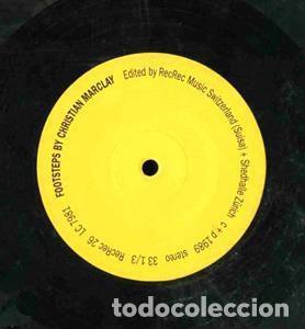Discos de vinilo: CHRISTIAN MARCLAY - FOOSTEPS - REC REC MUSIC -REC REC 26 LC 7981 SÓLO 1000 COPIAS EDITADAS. - Foto 3 - 113718791