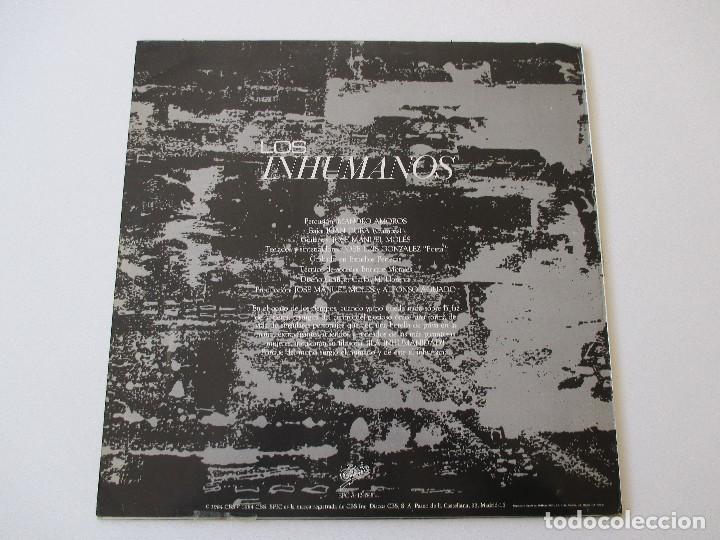 Discos de vinilo: Los Inhumanos Eres una foca/ Rap del gran lechón/ El disc jockey perdió la razón/ Streptease 1984 - Foto 2 - 113722331