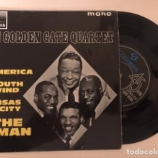 Discos de vinilo: THE GOLDEN GATE QUARTET - AMERICA + 3 / EP COLUMBIA ?– ESRF 1481 - ED UK - BUEN ESTADO. Lote 113783999