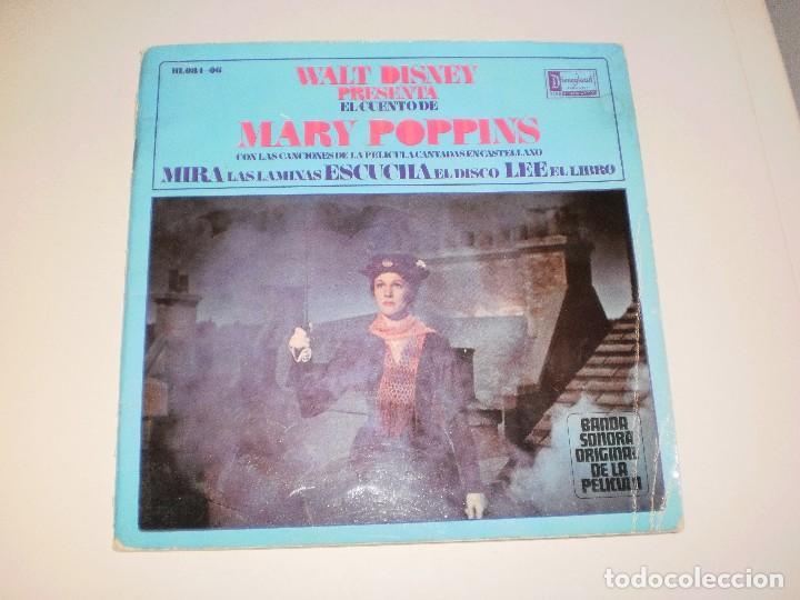 SINGLE. MARY POPPINS. WALT DISNEY. DISCO CUENTO. 1967 SPAIN (PROBADO Y BIEN) (Música - Discos - Singles Vinilo - Pop - Rock Extranjero de los 50 y 60)