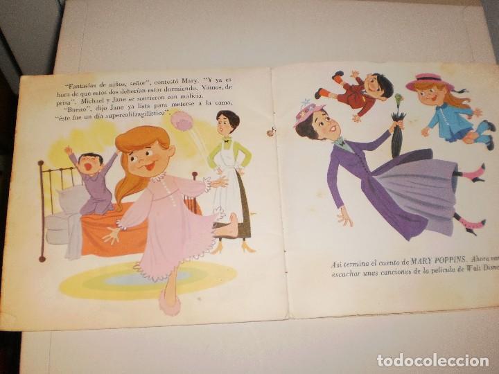 Discos de vinilo: Single. mary poppins. walt disney. disco cuento. 1967 Spain (probado y bien) - Foto 2 - 113811503