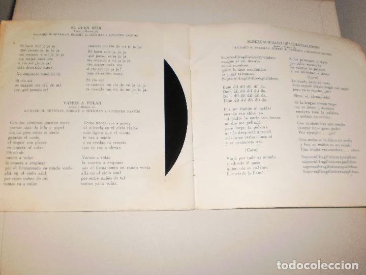 Discos de vinilo: Single. mary poppins. walt disney. disco cuento. 1967 Spain (probado y bien) - Foto 3 - 113811503