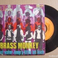 Discos de vinilo: BRASS MONKEY - SWEET WATER + KEEP A LITTLE BIT BACK - SINGLE PROMOCIONAL 1970 - RCA. Lote 113820003