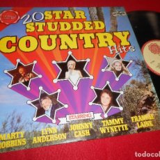 Discos de vinilo: 20 STAR STUDDED COUNTRY HITS LP 1975 LIMITED EDITION EDICION ENGLAND UK RECOPILATORIO F. LIANE+ETC. Lote 113822231