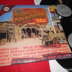 Discos de vinilo: 40 COUNTRY MASTERPIECES 2LP 1978 PICKWICK GATEFOLD EDICION ENGLAND UK RECOPILATORIO . Lote 113823003