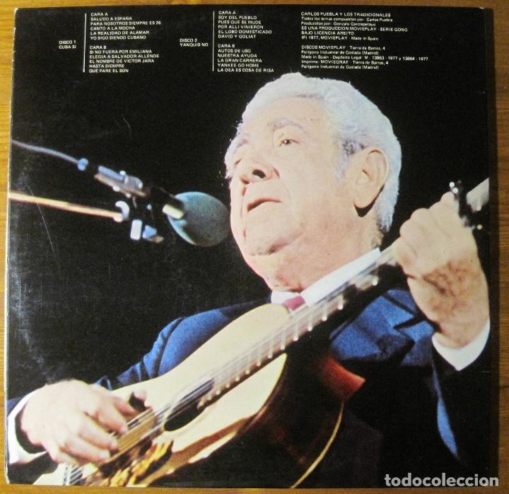 Discos de vinilo: Carlos Puebla Y Los Tradicionales - Cuba Sí Yanquis No (2xLP) - Foto 2 - 113828059