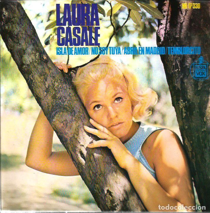EP LAURA CASALE : ISLA DE AMOR ( PALMA DE MALLORCA ) ( DISCO CON DEDICATORIA DE LAURA ) (Música - Discos de Vinilo - EPs - Solistas Españoles de los 50 y 60)