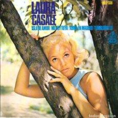 Discos de vinilo: EP LAURA CASALE : ISLA DE AMOR ( PALMA DE MALLORCA ) ( DISCO CON DEDICATORIA DE LAURA ). Lote 113840547