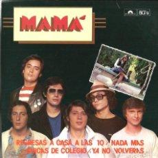 Discos de vinilo: EP MAMA ( EDICION ESPECIAL LIMITADA Y NUMERADA ) : REGRESAS A CASA A LAS 10 + 3 . Lote 113841827