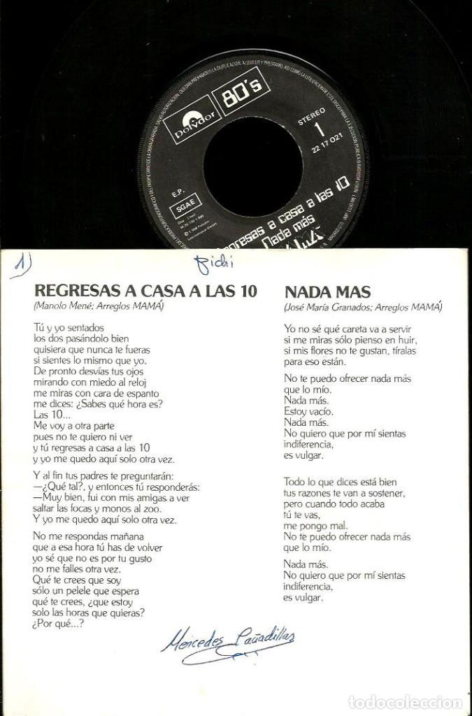 Discos de vinilo: EP MAMA ( EDICION ESPECIAL LIMITADA Y NUMERADA ) : REGRESAS A CASA A LAS 10 + 3 - Foto 2 - 113841827