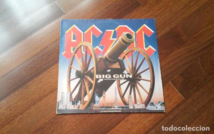 AC DC -BIG GUN + 2 TEMAS.MAXI (Música - Discos de Vinilo - Maxi Singles - Heavy - Metal)