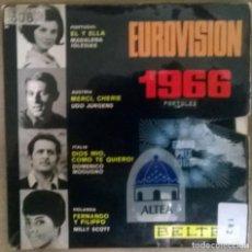Discos de vinilo: EUROVISIÓN 1966. MADALENA IGLESIAS EL Y ELLA/ UDO JURGENS/ DOMENICO MODIUGNO/ MILLY SCOTT. BELTER EP. Lote 113846731