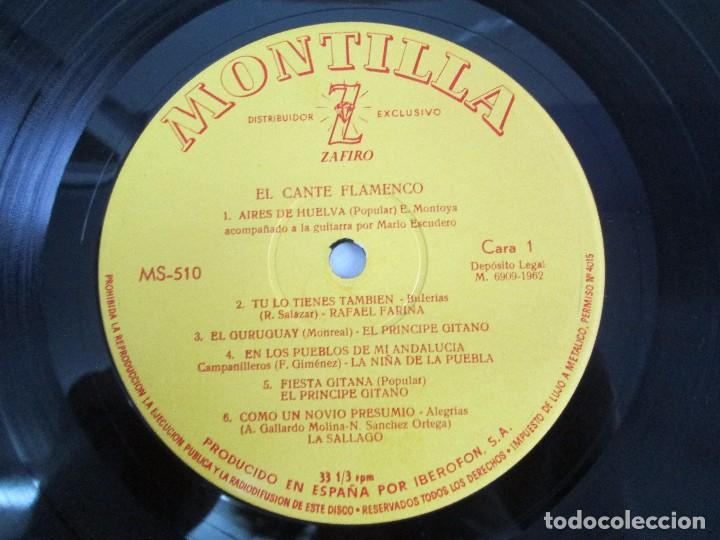 Discos de vinilo: EL CANTE FLAMENCO. LP VINILO. MONTILLA. 1962. VER FOTOGRAFIAS ADJUNTAS - Foto 8 - 113858523