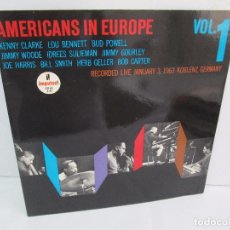 Discos de vinilo: AMERICANS IN EUROPE. VOL 1. KENNY CLARKE. LOU BENNETT. LP VINILO. HISPAVOX 1966. Lote 113881487