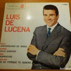 Discos de vinilo: EP - LUIS DE LUCENA - ANIVERSARIO - VAYA BODA - BORRACHO Y + - RCA VICTOR 1963. Lote 113887019