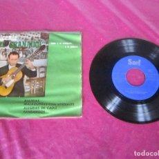 Discos de vinilo: VICENTE EL GRANAINO BULERIAS/ MALAGUEÑAS CON VERDIALES/ ALEGRIAS DE CADIZ/ FANDANGOS EP SAEF 1961. Lote 113913011