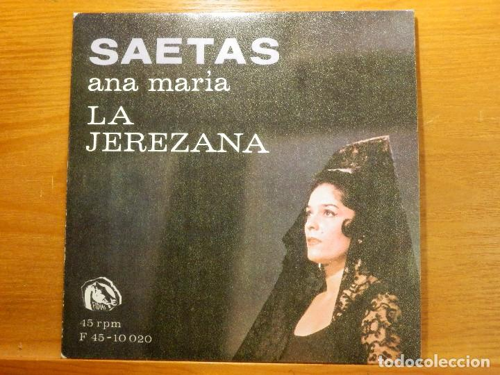 EP - ANA MARÍA - LA JEREZANA - SEMANA SANTA EN GRANADA, LA PLEGARÍA MAS COMPLETA - REY.. FIDIAS 1967 (Música - Discos de Vinilo - EPs - Flamenco, Canción española y Cuplé)