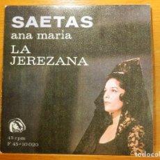 Discos de vinilo: EP - ANA MARÍA - LA JEREZANA - SEMANA SANTA EN GRANADA, LA PLEGARÍA MAS COMPLETA - REY.. FIDIAS 1967. Lote 113914111