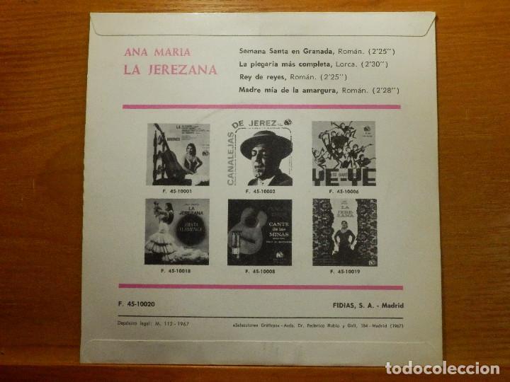 Discos de vinilo: EP - Ana María - La Jerezana - Semana Santa en Granada, La plegaría mas completa - Rey.. Fidias 1967 - Foto 2 - 113914111