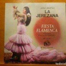 Discos de vinilo: EP - ANA MARÍA, LA JEREZANA - FIESTA FLAMENCA, ROSA MALENA, BODA EN EL CIELO, MI CONDENA FIDIAS 1966. Lote 113914471