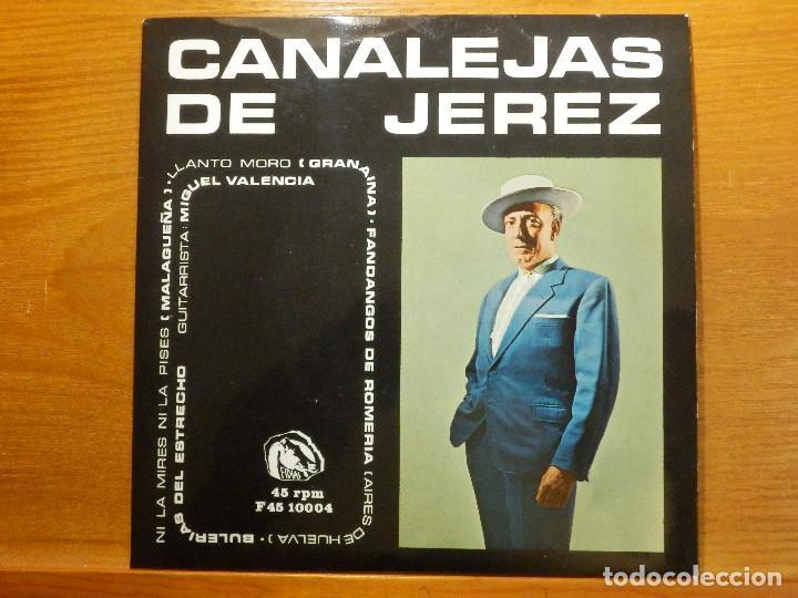 EP - CANALEJAS DE JEREZ - NI LA MIRES NI LA PISES, LLANTO MORO, FANDANGOS DE ROMERÍA, - FIDIAS 1966 (Música - Discos de Vinilo - EPs - Flamenco, Canción española y Cuplé)