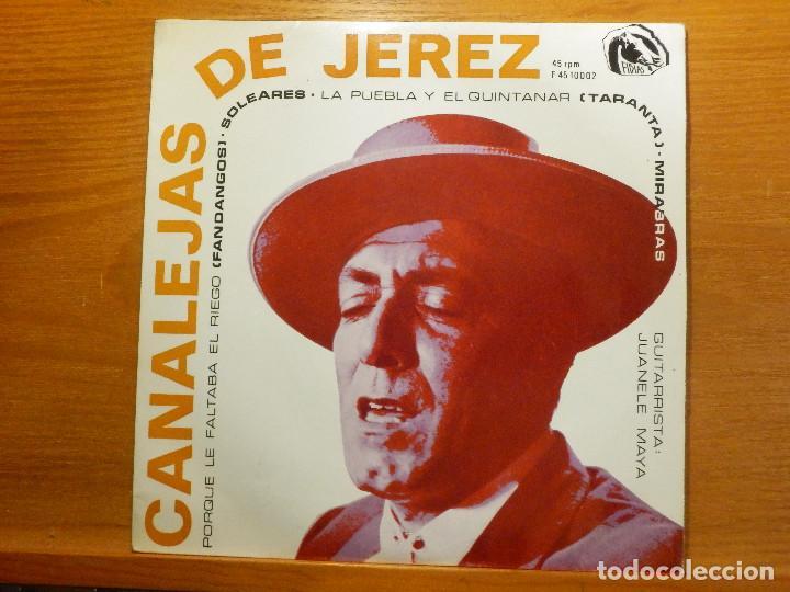 EP - CANALEJAS DE JEREZ - PORQUE LE FALTABA EL RIEGO, SOLEARES, MIRABRAS, - FIDIAS 1966 (Música - Discos de Vinilo - EPs - Flamenco, Canción española y Cuplé)