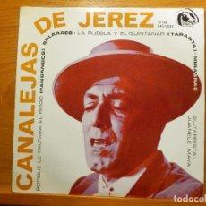 Discos de vinilo: EP - CANALEJAS DE JEREZ - PORQUE LE FALTABA EL RIEGO, SOLEARES, MIRABRAS, - FIDIAS 1966. Lote 113915435