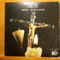 Discos de vinilo: EP - PEPE SANLUCAR - SAETAS - YA LOS PÁJAROS NO CANTAN, MADRE HERMOSA, QUE DELITO HAS - FIDIAS 1967. Lote 113915703