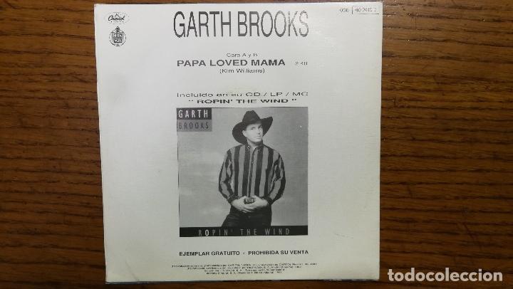 Discos de vinilo: Garth Brooks_Papa Loved Mama_Vinilo Single 7 PROMO Edicion Española_1992 COMO NUEVO!!! - Foto 2 - 265885998