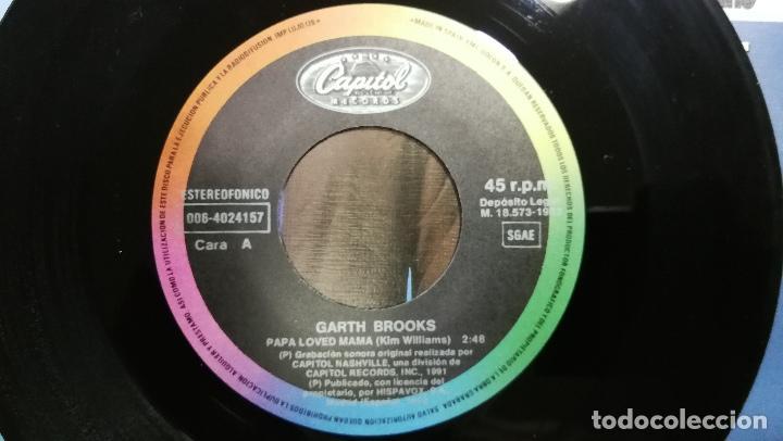 Discos de vinilo: Garth Brooks_Papa Loved Mama_Vinilo Single 7 PROMO Edicion Española_1992 COMO NUEVO!!! - Foto 3 - 265885998