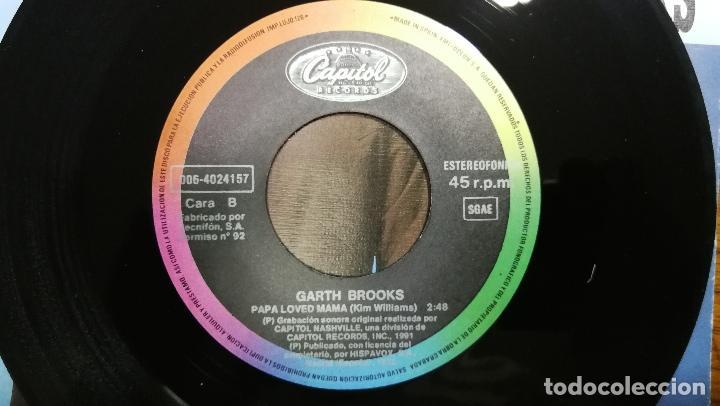 Discos de vinilo: Garth Brooks_Papa Loved Mama_Vinilo Single 7 PROMO Edicion Española_1992 COMO NUEVO!!! - Foto 4 - 265885998