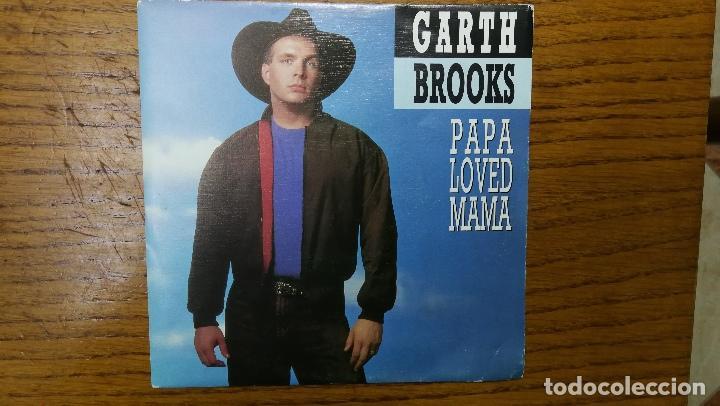 GARTH BROOKS_PAPA LOVED MAMA_VINILO SINGLE 7'' PROMO EDICION ESPAÑOLA_1992 COMO NUEVO!!! (Música - Discos - Singles Vinilo - Country y Folk)
