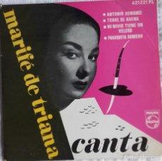 Discos de vinilo: LOTE 2 SINGLES MARIFÉ DE TRIANA LOLA FLORES. Lote 113948383